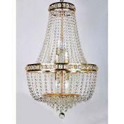 Lustre de Cristal Fontana Gemelli 12 Lâmpadas Dourado BL