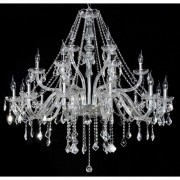 Lustre de Cristal Maria Thereza Transparente  21 Lâmpadas BL