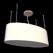 Lustre Pendente Oval 78cm em Madeira Branco ou Preto