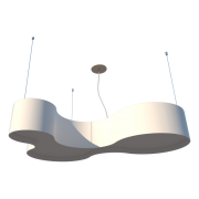 Lustre Pendente Semi Cilíndrico 80cm Madeira Laca Branco ou Preto