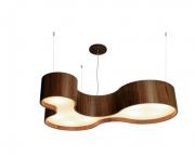 Lustre Pendente Semi Cilíndrico em Madeira 100cm Accord 291