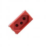 Módulo Tomada 2P+T 20A Vermelha Tramontina Liz