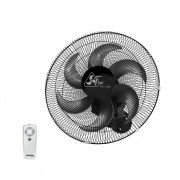 Ventilador de Parede Oscilante Com Controle Remoto Delta Free 40cm Preto Bivolt