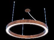 Pendente Anel 60cm LED 25w 2700k em Madeira Imbuia