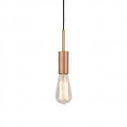Pendente Infinite Cobre + Lâmpada LED 4w ST64 Quente Bivolt - TKS