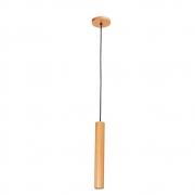 Pendente Tubo Legno 35cm 1 Lamp Madeira Castanho Madelustre
