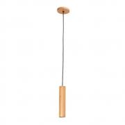 Pendente Tubo Legno 25cm 1 Lamp Madeira Castanho Madelustre