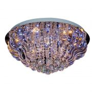 Plafon de Cristal Redondo 9 lamp Coliseu com Controle Remoto BL