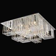 Plafon Sobrepor Quadrado 60x60cm em Vidro Translúcido Mais Luz