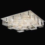Plafon Sobrepor Quadrado 80x80cm em Vidro Translúcido Mais Luz