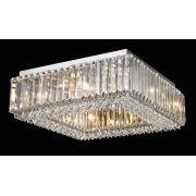 Plafon Sobrepor Quadrado em Cristal Translúcido Ø45cm Mais Luz