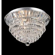 Plafon Sobrepor Redondo em Cristal Translúcido Ø46cm Mais Luz