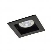 Plafon Spot Embutir Direcionável 1 Lâmpada Dicróica Preto