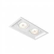 Plafon Spot Embutir Direcionável 2 Lâmpadas AR111 Branco RL