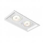 Plafon Spot Embutir Direcionável 2 Lâmpadas Par20 Branco