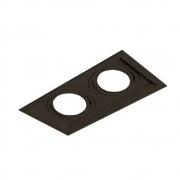 Plafon Spot Embutir Direcionável 2 Lâmpadas Par20 Preto