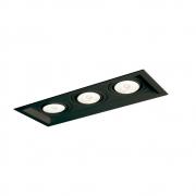 Plafon Spot Embutir Direcionável 3 Lâmpadas Par20 Preto
