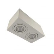 Plafon Spot Sobrepor Direcionável 2 Lâmpadas Par30 Branco RL