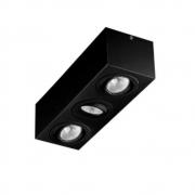 Plafon Spot Sobrepor Direcionável 3 Lâmpadas Par20 Preto RL