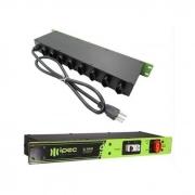 Régua De Tomadas 20A Para Rack Com Disjuntor 32A DJ5000 Ipec