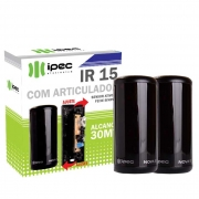 Sensor Barreira Feixe Simples Ativo IR15 Anti Esmagamento Com Articulador Digital Ipec