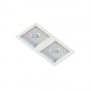 Spot Duplo Embutir Quadrado Recuado Branco Para Par30 E27