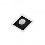 Spot Embutir Quadrado Recuado Branco Fundo Preto Par30 E27