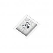 Spot Embutir Quadrado Recuado Branco Para Ar111 Gu10