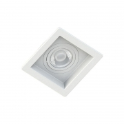 Spot Embutir Quadrado Recuado Branco Para Mini Dicróica Gu10 Mr11