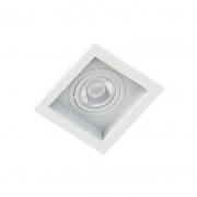 Spot Embutir Quadrado Recuado Branco Para Par30 E27