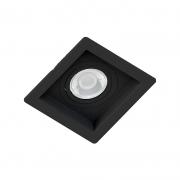 Spot Embutir Quadrado Recuado Preto Para Par20 E27