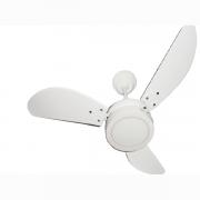 Ventilador de Teto LED Brilhante Loren Sid Branco Pás Brancas