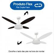 Ventilador de Teto Volare Branco Fosco VD50 Lanai 4 Pás Branco ou Tabaco