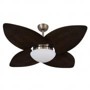 Ventilador de Teto Volare Bronze VD42 Dunamis Palmae 4 Pás Tabaco