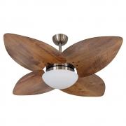 Ventilador de Teto Volare Bronze VD42 Dunamis Rádica 4 Pás Imbuia