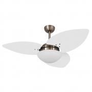 Ventilador de Teto Volare Bronze VD42 Dunamis S3 3 Pás Branco
