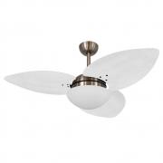 Ventilador de Teto Volare Bronze VD42 Dunamis S3 Palmae 3 Pás Branco