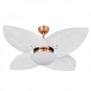 Ventilador de Teto Volare Cobre VD42 Dunamis Palmae 4 Pás Branco