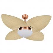 Ventilador de Teto Volare Cobre VD42 Dunamis Palmae 4 Pás Natural