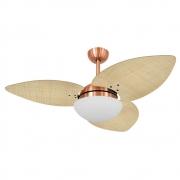 Ventilador de Teto Volare Cobre VD42 Dunamis S3 Palmae 3 Pás Natural