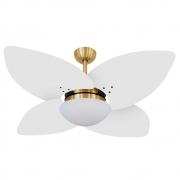 Ventilador de Teto Volare Dourado VD42 Dunamis 4 Pás Branco