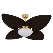 Ventilador de Teto Volare Dourado VD42 Dunamis Palmae 4 Pás Tabaco