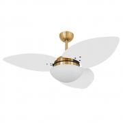 Ventilador de Teto Volare Dourado VD42 Dunamis S3 4 Pás Branco