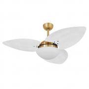 Ventilador de Teto Volare Dourado VD42 Dunamis S3 Palmae 3 Pás Branco
