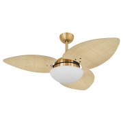 Ventilador de Teto Volare Dourado VD42 Dunamis S3 Palmae 3 Pás Natural