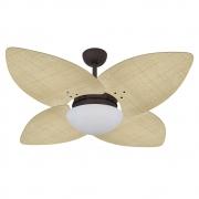 Ventilador de Teto Volare Marrom Texturizado VD42 Dunamis Palmae 4 Pás Natural