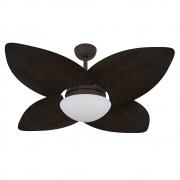 Ventilador de Teto Volare Marrom Texturizado VD42 Dunamis Palmae 4 Pás Tabaco