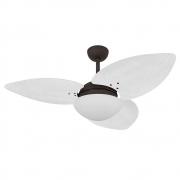 Ventilador de Teto Volare Marrom Texturizado VD42 Dunamis S3 Palmae 3 Pás Branco
