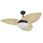 Ventilador de Teto Volare Marrom Texturizado VD42 Dunamis S3 Palmae 3 Pás Natural