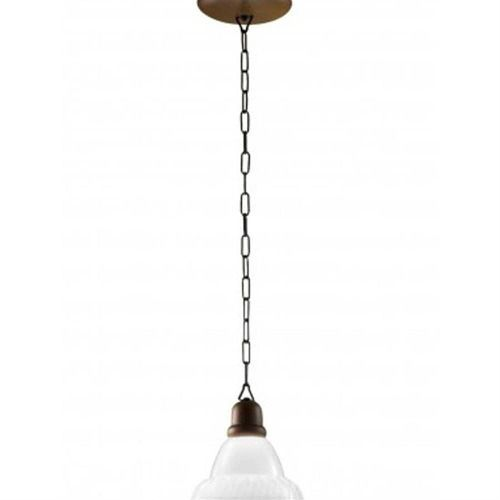 Pendente Rústico 1 Lâmpada Sombrero Imbuia Madelustre